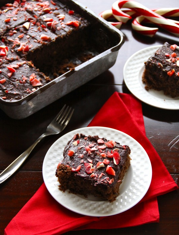 chocolate brownies with peppermint icing - Climbing Grier Mountain