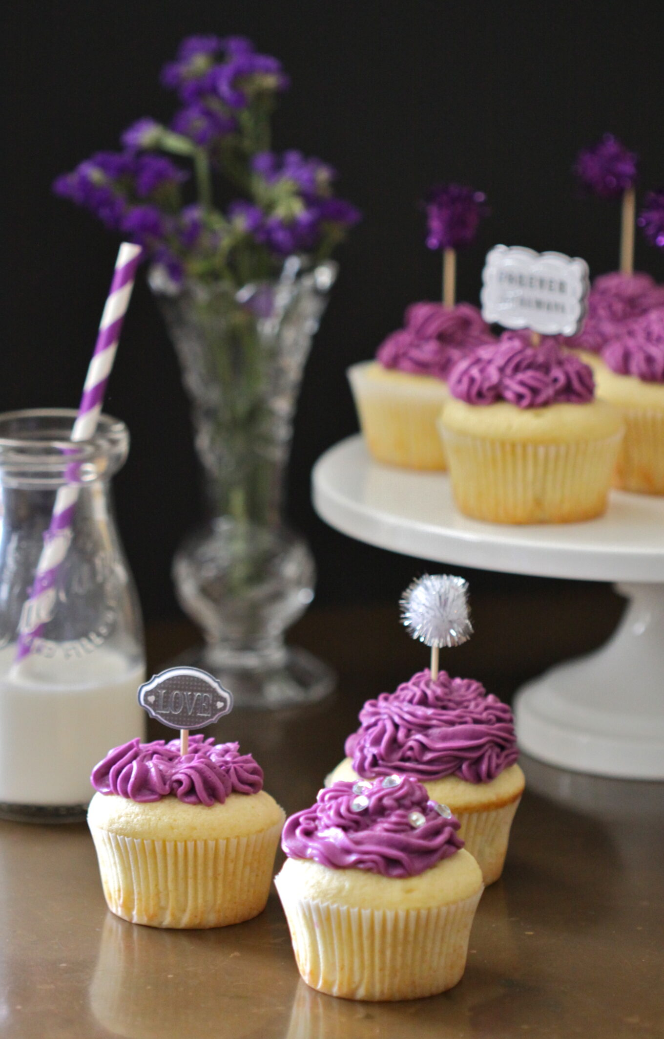 Midnight Blue Velvet Cupcakes - Loving It Vegan   Blue Vanilla Cupcakes