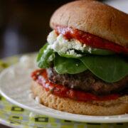 lamb burgers with homemade mint ketchup www.climbinggriermountain.com