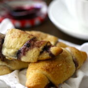 Blackberry Crescents with Cinnamon Sugar www.climbinggriermountain.com