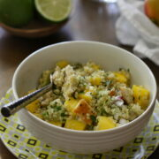 Grilled Chicken, Mango, and Avocado Quinoa www.climbinggriermountain.com