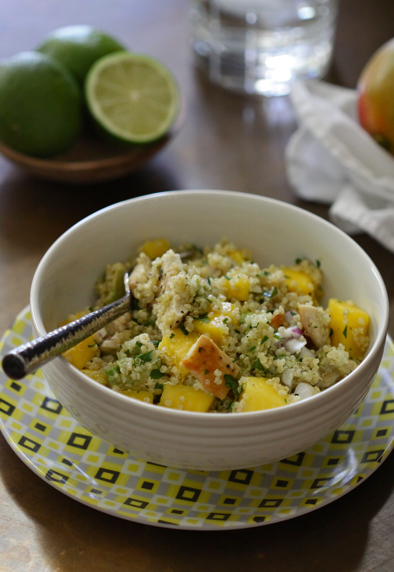 Grilled Chicken, Mango, and Avocado Quinoa www.climbinggriermountain ...