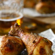 Spiced Chicken Drumsticks with Brown Sugar and Jalapenos www.climbinggriermountain.com