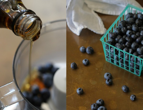 blueberry waffles with brown sugar streusel and blueberry syrup www.climbinggriermountain.com