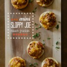 mini sloppy joe naan pizzas  www.climbinggriermountain.com