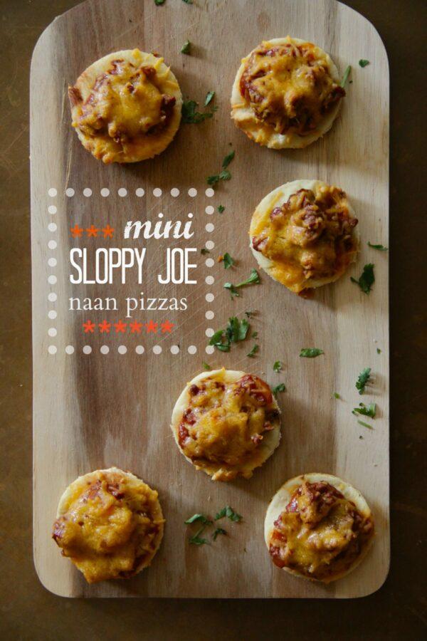 mini sloppy joe naan pizzas  www.climbinggriermountain.com
