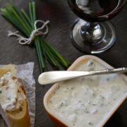whipped cottage cheese herb spread www.climbinggriermountain.com