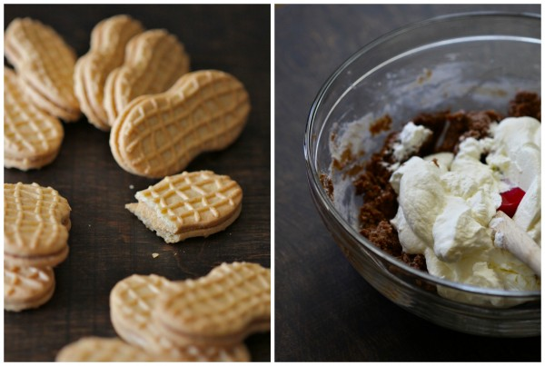 peanut butter nutella pie with crispy bacon & crushed golden grahams www.climbinggriermountain.com