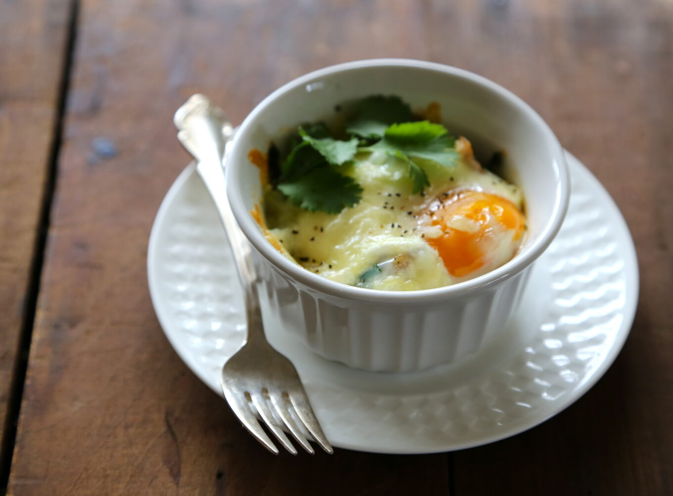 Individual Cheesy Baked Eggs Www Climbinggriermountain My Next Recipe Was Microwave