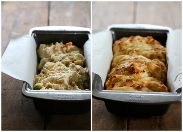 leftover thanksgiving pizza pull-apart bread www.climbinggriermountain.com