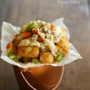 thanksgiving tater tots with dijon gravy www.climbinggriermountain.com