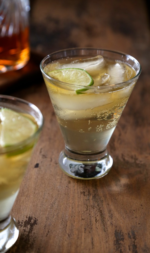 Drink Mixed With Ginger Ale