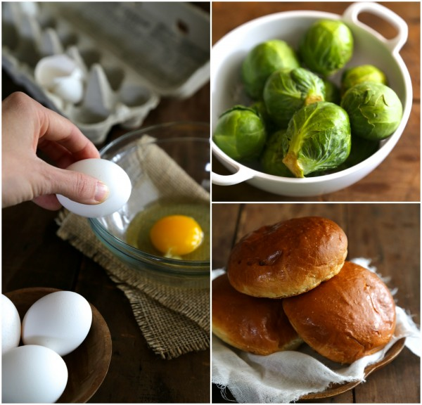 Egg Sandwich with Balsamic Roasted Brussels Sprouts & Lemon Aioli