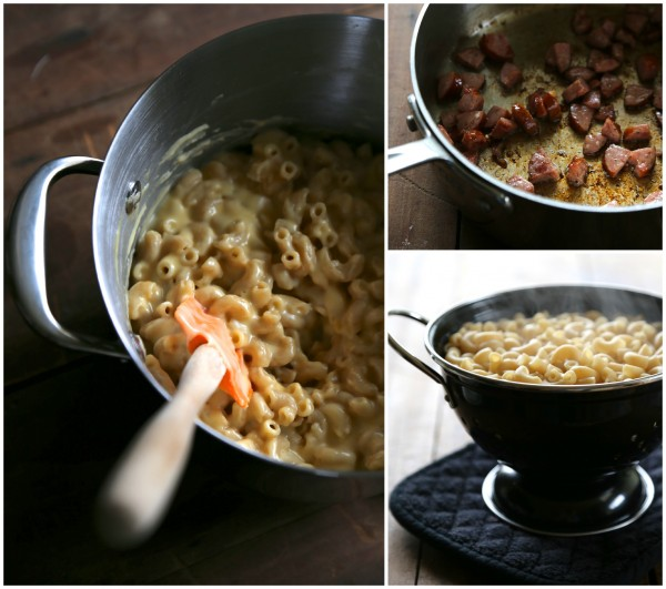 poutine mac and cheese with andouille gravy
