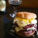 St. Paddy's Corned Beef Burgers with Irish Cheddar Cheese