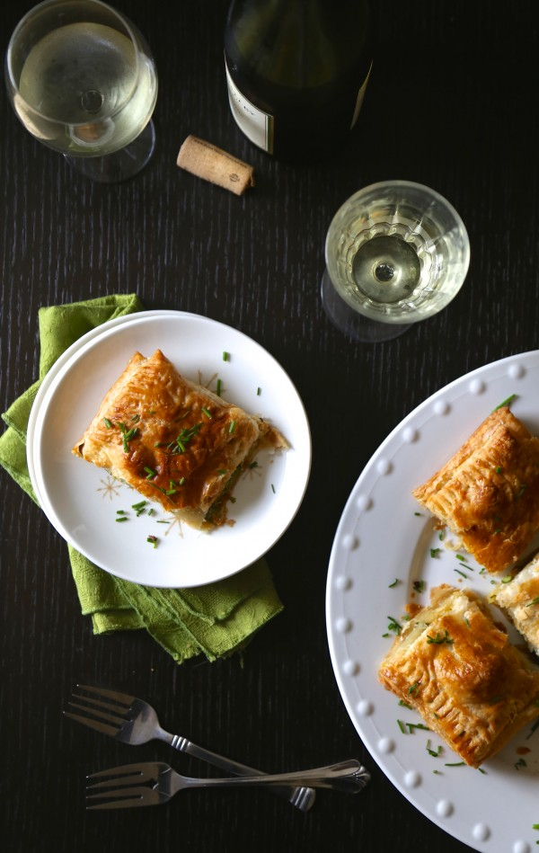 spiced spring veggie danishes with fresh chives www.climbinggriermountain.com