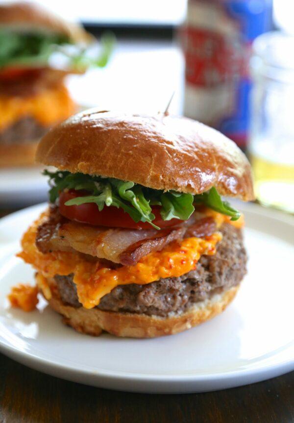 pork belly pimento cheese burger www.climbinggriermountain.com