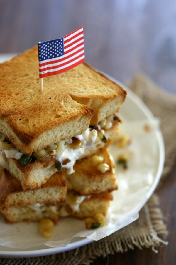 buratta & jalapeno corn grilled cheese www.climbinggriermountain.com