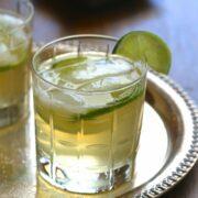 boulder street bourbon spritz with fresh limes www.climbinggriermountain.com