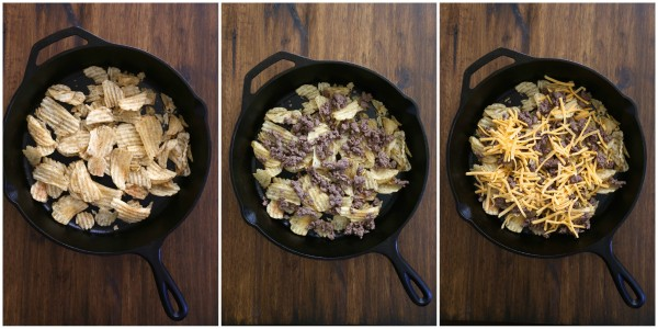 the ultimate kobe beef skillet nachos with kettle chips & fry sauce