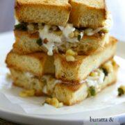 buratta & jalapeno corn grilled cheese www.climbinggriermountain.com