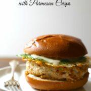 Chicken Caesar Burger With Parmesan Crisps