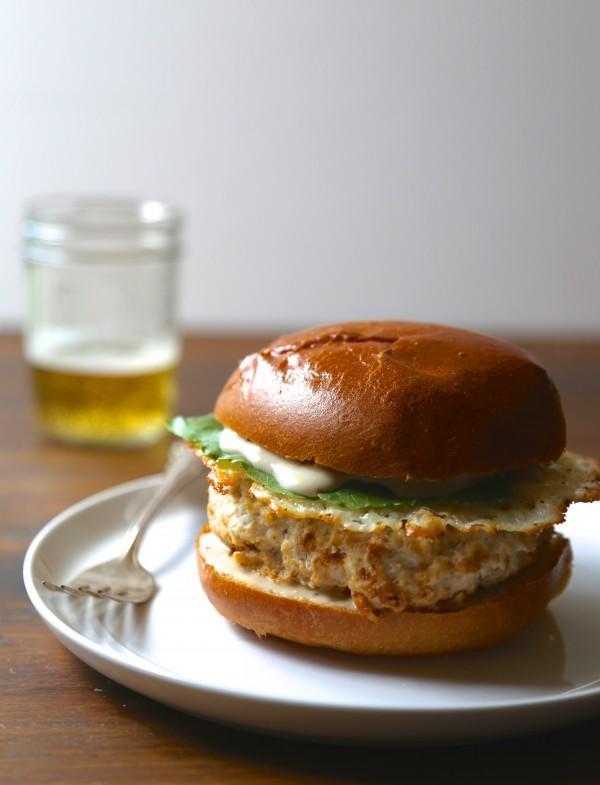 Chicken Caesar Burger With Parmesan Crisps www.climbinggriermountain.com