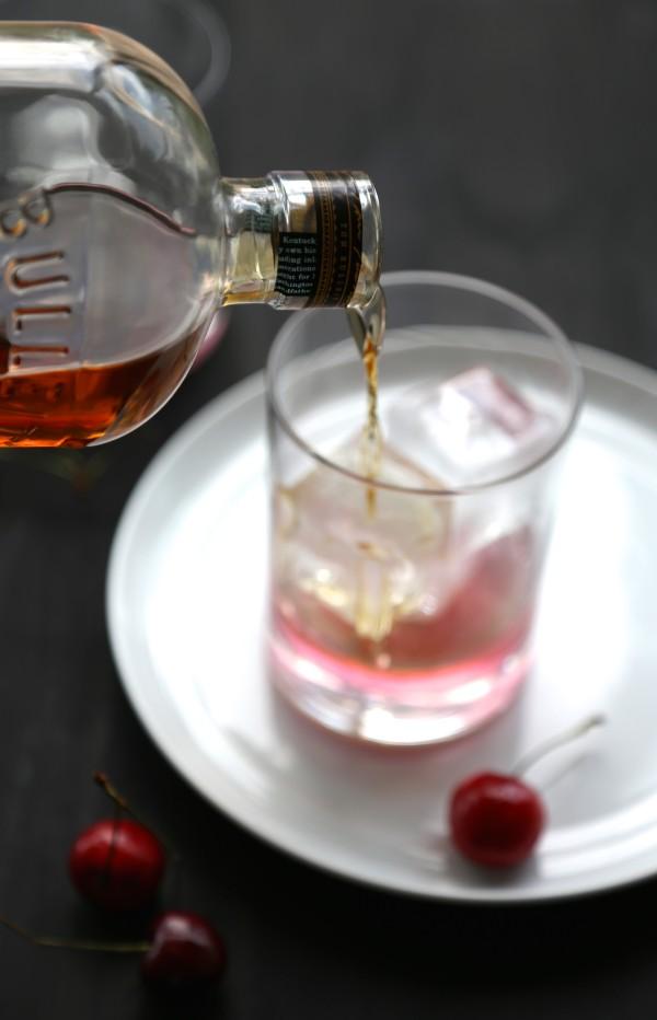cherry ginger bourbon fizz