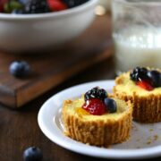 breakfast cheesecakes with lemon greek yogurt & fresh berries www.climbinggriermountain.com