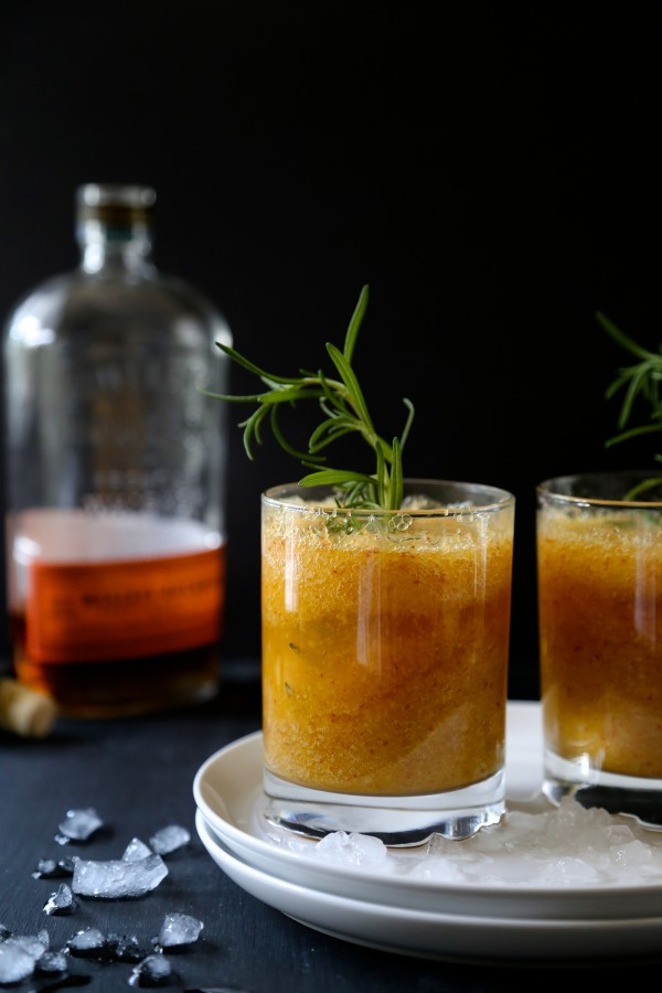 ... Grier Mountain » foodie fridays: peach-rosemary bourbon sparkler