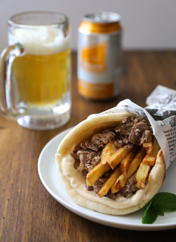 slow cooker spiced lamb gyros with frites and mint aioli www.climbinggriermountain.com