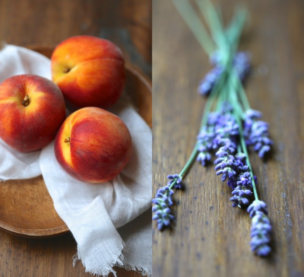 peaches and lavender