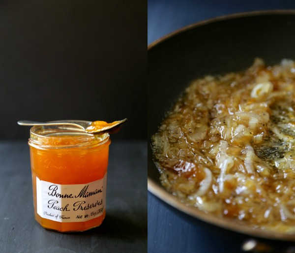 spicy peach caramelized onions