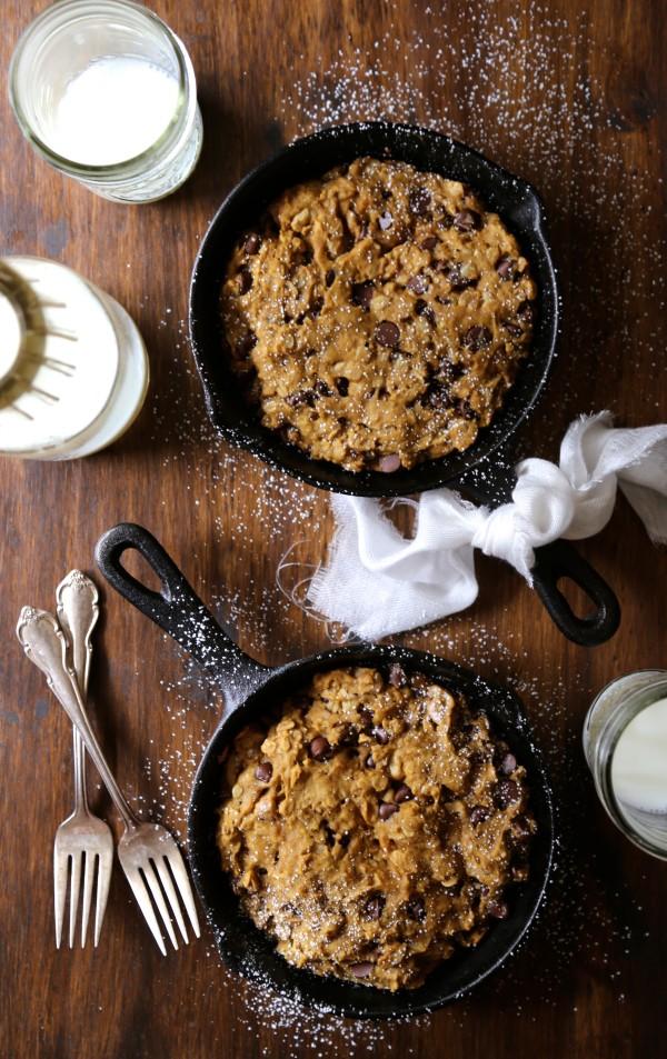 individual pumpkin granola skillet cookie www.climbinggriermountain.com