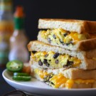 huevos rancheros grilled cheese