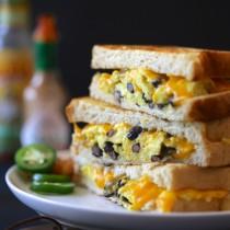 huevos rancheros grilled cheese