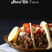 slow cooker indian spiced short rib tacos with cucumber raita
