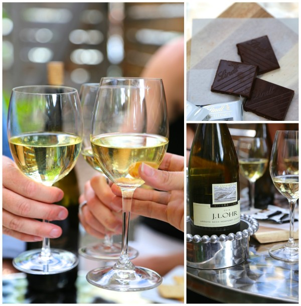 wine & chocolate pairing party Chardonnay