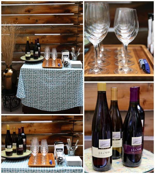 wine & chocolate pairing party setup www.climbinggriermountain.com