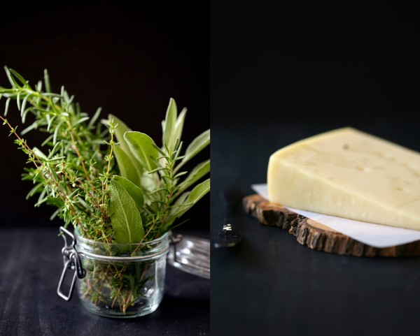 herbs and cheese