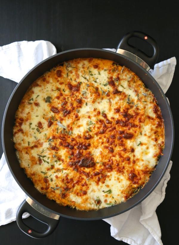 Pumpkin Quinoa Casserole with Gruyere & Sage