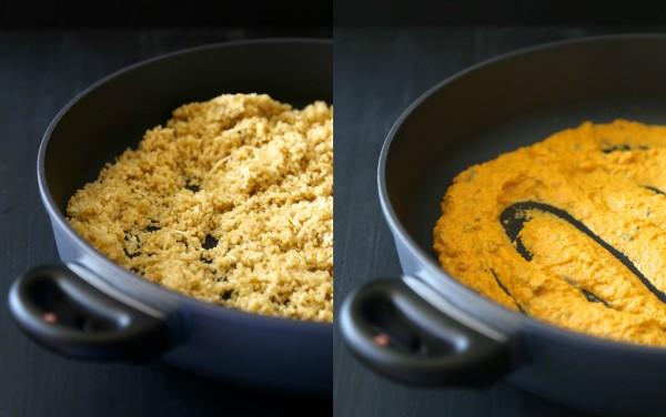 pumpkin quinoa casserole with gruyere & fresh herbs