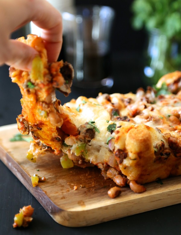 black-eyed pea pull-apart pizza