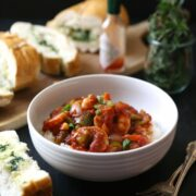 Slow Cooker Shrimp Creole with Easy Garlic Bread