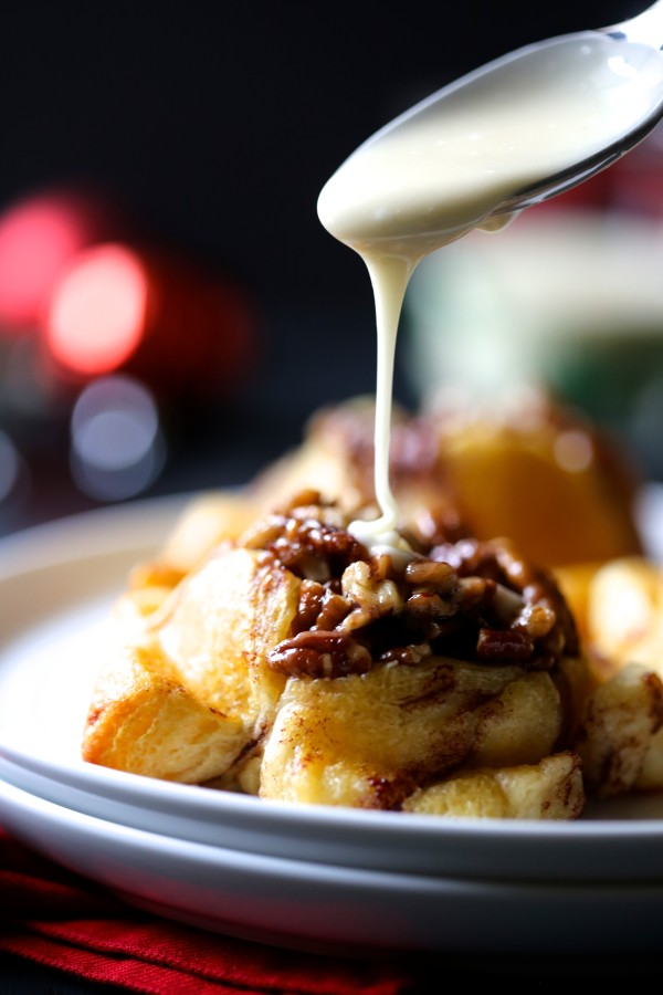 easy mini monkey bread muffins with eggnog icing