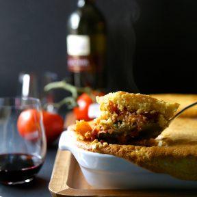 winter squash tamale pie with harissa