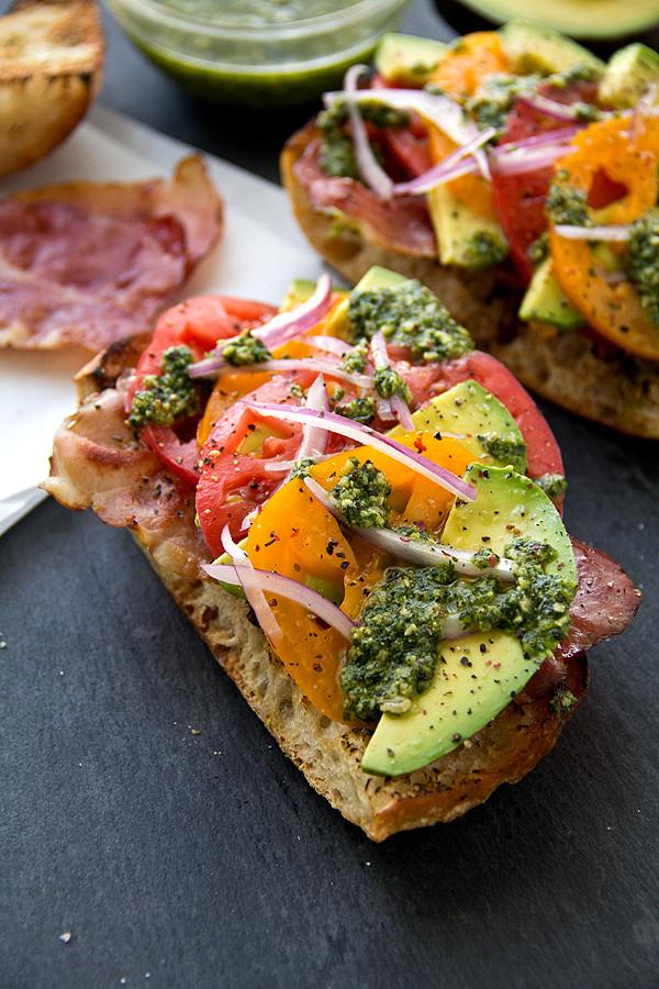 #10 Crispy Prosciutto and Avocado Salad Toasts