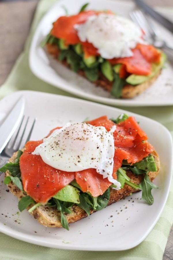 #3 Smoke Salmon and Avocado Egg Sandwich