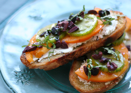 #5 Toasted Tomato, Basil and Goat Cheese Sandwiches-2