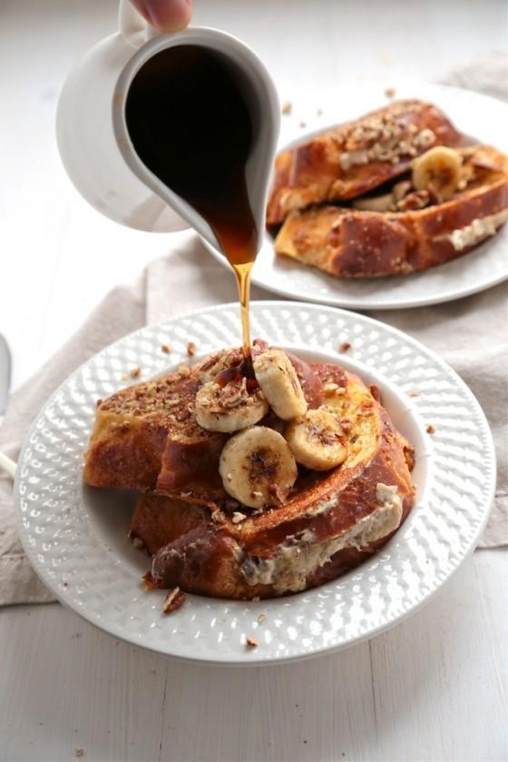 #6 Bourbon Banana Nut Stuffed French Toast